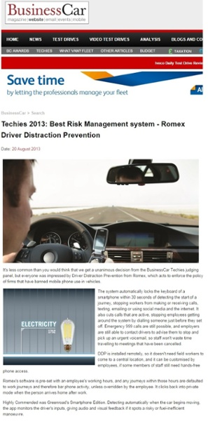 Techies 2013: Best Risk Management Award swinner