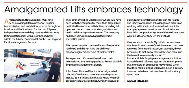 amalgamated lifts and romex