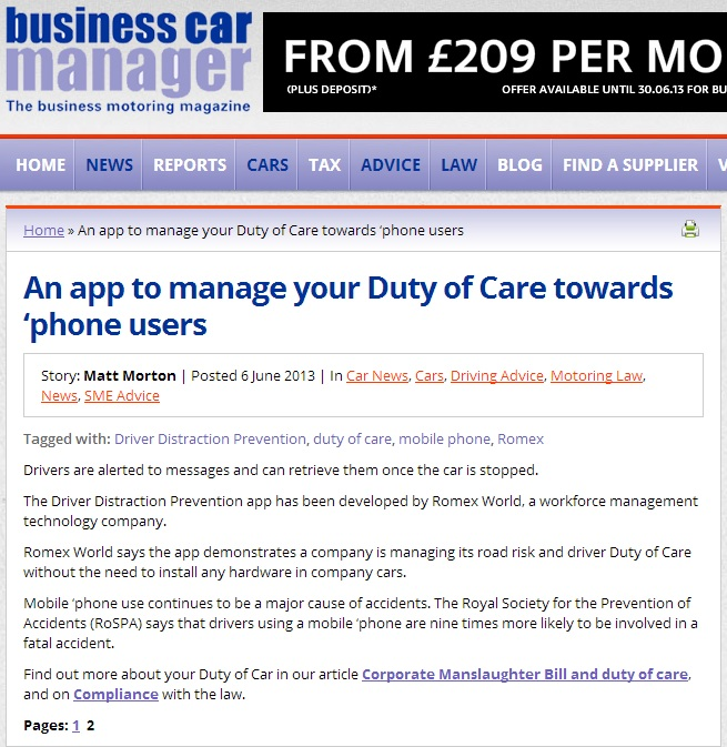 Duty of care app