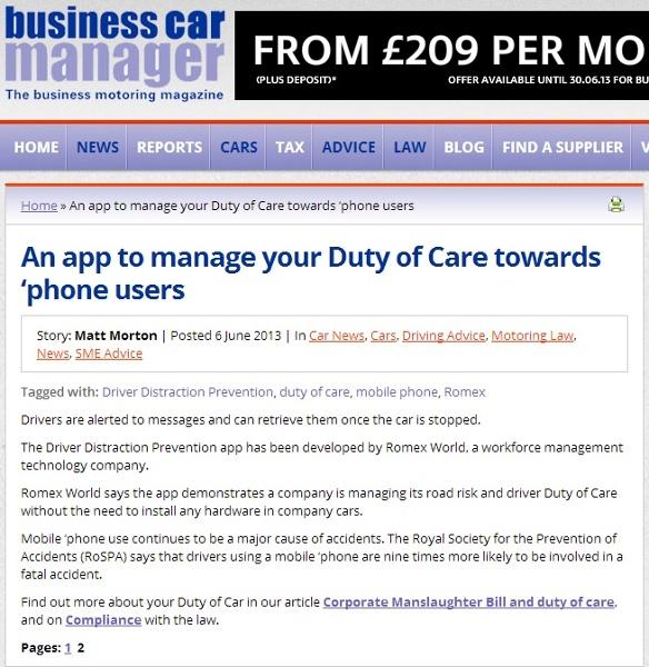 Duty of care app