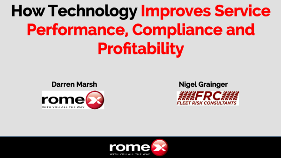 Technology Improves Service Performance