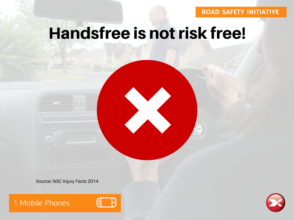 Handsfree is not risk free